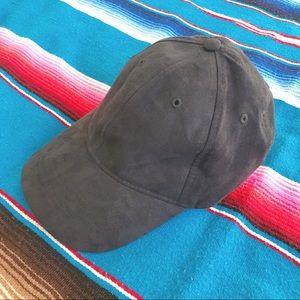 baseball cap in faux suede